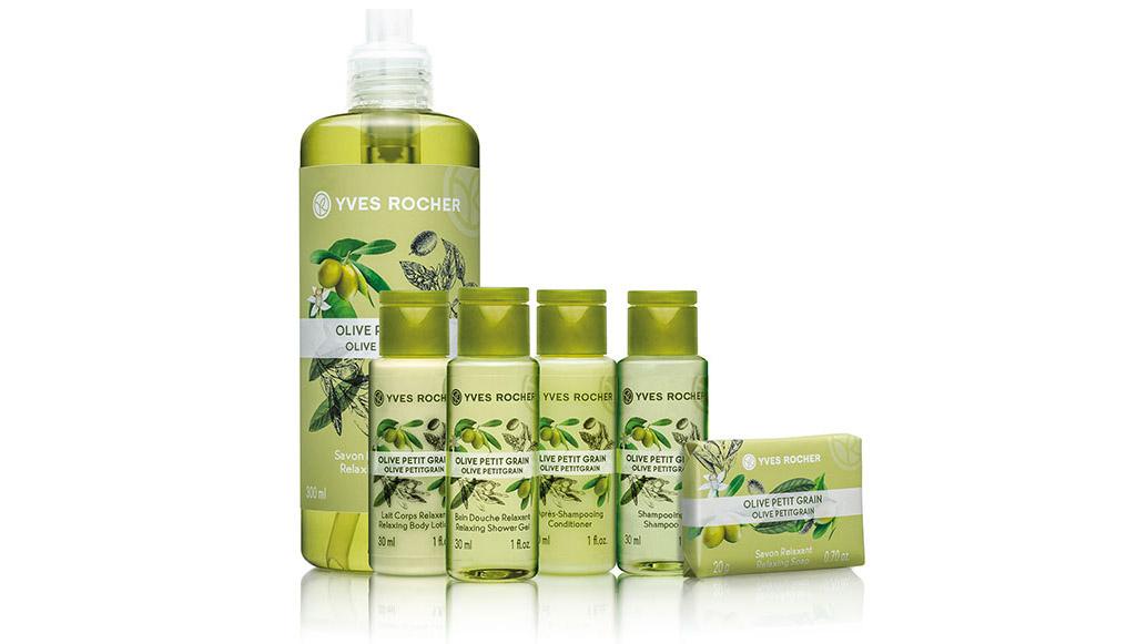 Groupe GM presenta su nueva línea de productos de acogida 'Olive Petitgrain' de Yves Rocher