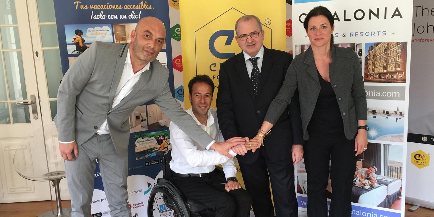 Catalonia y Omnirooms, patrocinadores oficiales del primer torneo internacional de tenis en silla de ruedas de Barcelona