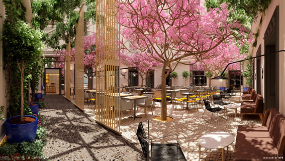 Nuevo proyecto hotelero de ESTUDIO B76 HOTEL CASA DE LA CARNICERÍA plaza mayor, 3. Madrid